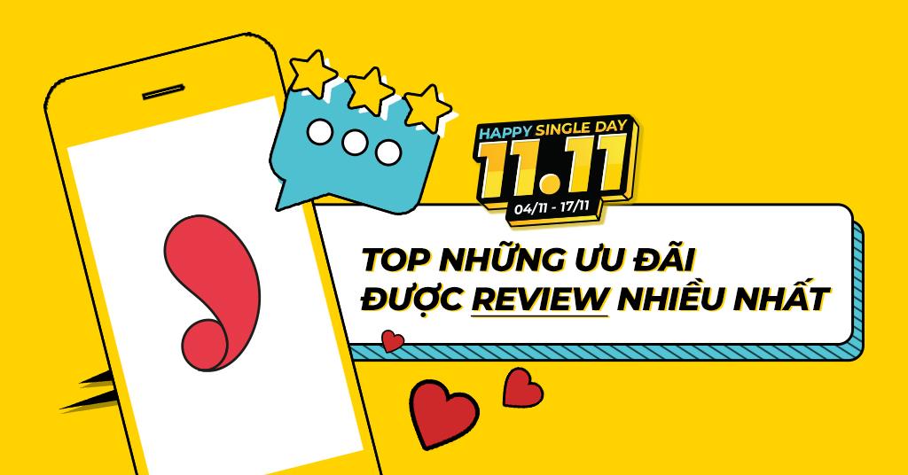 Top những ưu đãi được review nhiều nhất